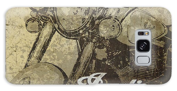 Indian Motorcycle Poster Galaxy Case