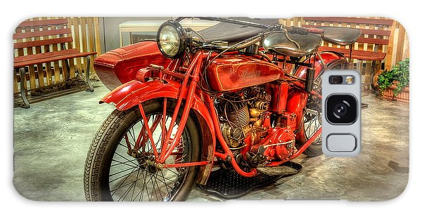 Indian Motorcycle With Sidecar Galaxy Case