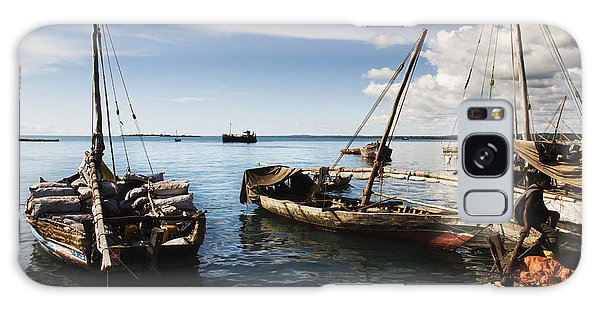 Indian Ocean Dhow At Stone Town Port Galaxy Case by Amyn Nasser