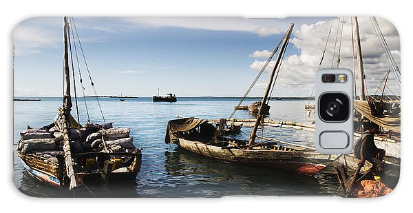 Indian Ocean Dhow At Stone Town Port Galaxy Case