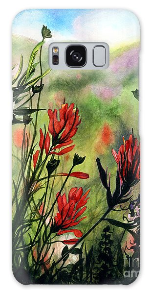 Indian Paint Brush Galaxy Case by Barbara Jewell