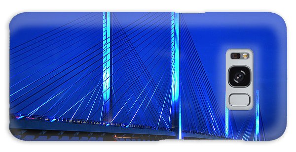 Indian River Bridge At Night Galaxy Case by Bill Swartwout