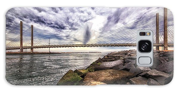 Indian River Bridge Clouds Galaxy Case by Bill Swartwout