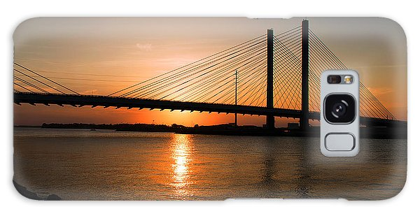 Indian River Bridge Sunset Reflections Galaxy Case by Bill Swartwout