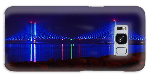 Indian River Inlet Bridge After Dark Galaxy Case by Bill Swartwout