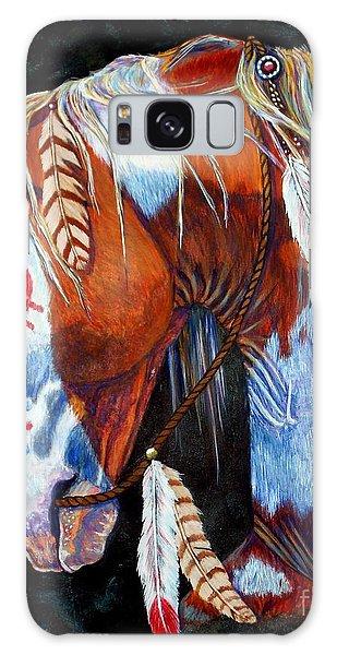 White Horse Galaxy S8 Case - Indian War Pony by Amanda Hukill