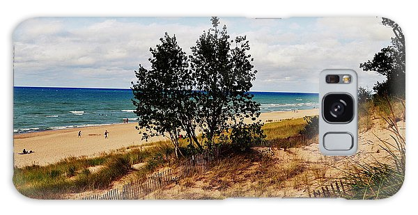 Indiana Dunes Two Tree Beachscape Galaxy Case