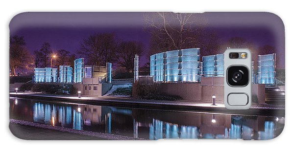 Indianapolis Canal Walk Medal Of Honor Memorial Night Lights Galaxy Case