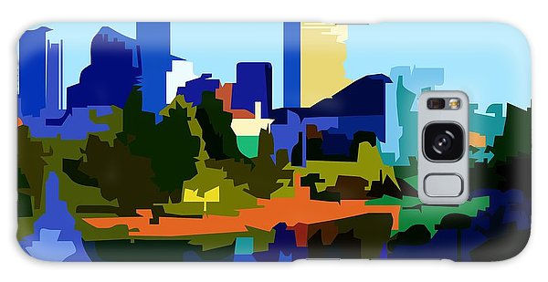 Indianapolis Cityscape Galaxy Case by P Dwain Morris