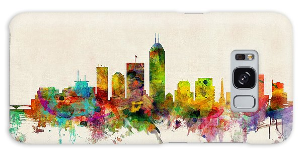 Poster Galaxy Case - Indianapolis Indiana Skyline by Michael Tompsett