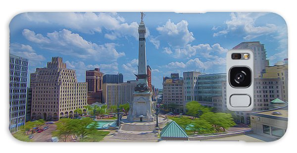 Indianapolis Monument Circle Oil Galaxy Case