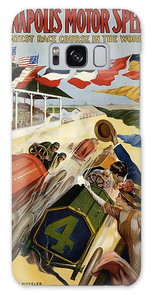 Sport Art Galaxy Case - Indianapolis Motor Speedway - Vintage Lithograph by Mountain Dreams
