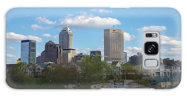 Indianapolis Skyline Blue 2 Galaxy Case