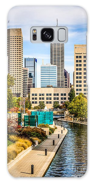 Skylines Galaxy Case - Indianapolis Skyline Picture Of Canal Walk In Autumn by Paul Velgos