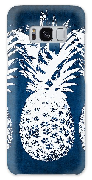 Indigo And White Pineapples Galaxy Case