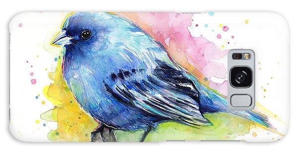 Bird Galaxy Case - Indigo Bunting Blue Bird Watercolor by Olga Shvartsur