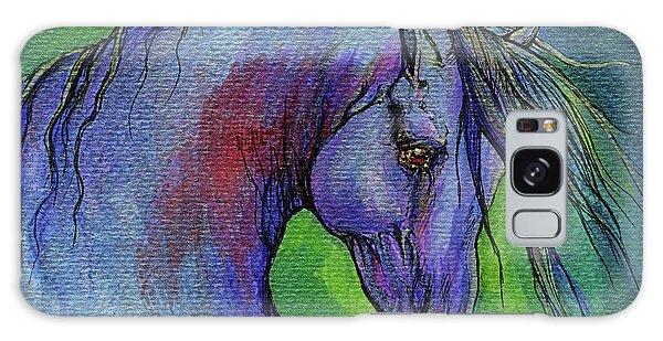 Iridescent Galaxy Case - Indigo Horse by Angel Ciesniarska