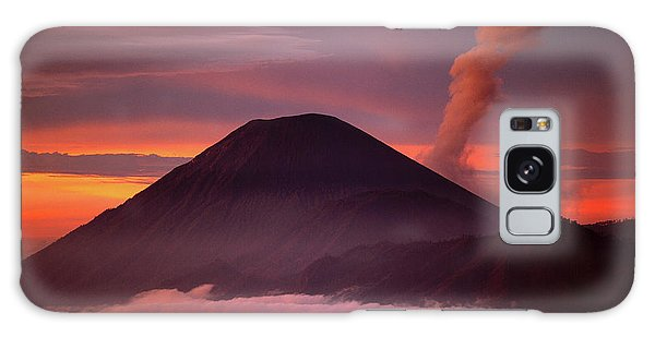 Mountain Galaxy Case - Indonesia Mt Semeru Emits A Plume by Jaynes Gallery