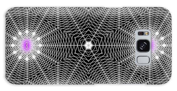 Galaxy Case featuring the digital art Infinity Grid Six by Derek Gedney