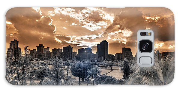 Infrared Sunset Galaxy Case