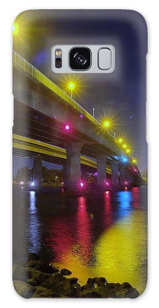 Ingraham Street Bridge At Night Galaxy Case