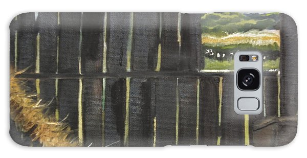 Barn -inside Looking Out - Summer Galaxy Case
