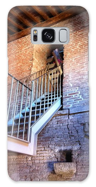 Inside Stairway Of Old Tower In Lucca Italy Galaxy Case