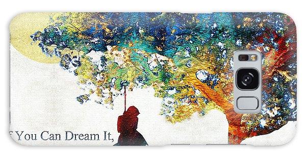 Walt Disney Galaxy Case - Inspirational Art - You Can Do It - Sharon Cummings by Sharon Cummings