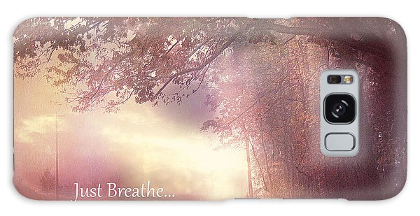 Breathe Galaxy Case - Inspirational Nature - Dreamy Surreal Ethereal Inspirational Art Print - Just Breathe.. by Kathy Fornal