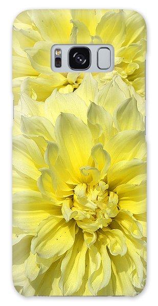 Intense Yellow Dahlias Galaxy Case