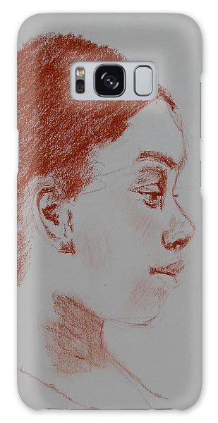 Intent Conte Sketch Galaxy Case by Carol Berning