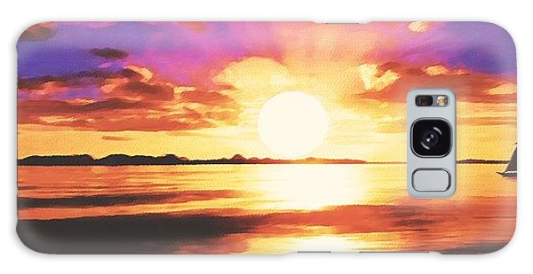 Into The Sunset Galaxy Case by Sophia Schmierer