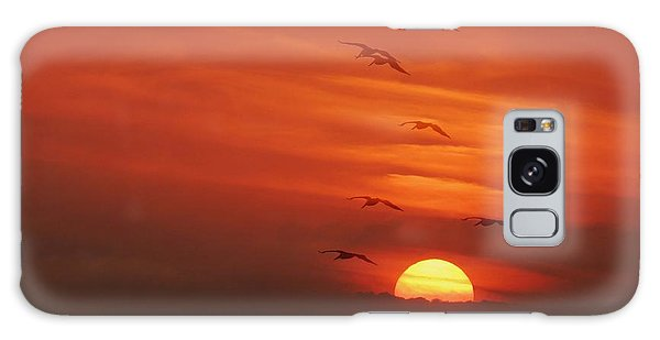 Into The Sunset Galaxy Case by Teresa Schomig
