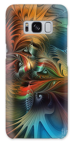 Intricate Life Paths-abstract Art Galaxy Case