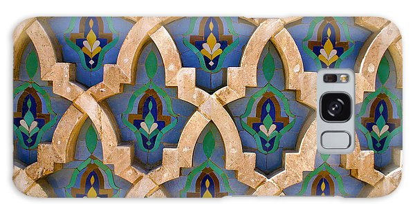 Intricate Zelji At The Hassan II Mosque Sour Jdid Casablanca Morocco Galaxy Case by Ralph A  Ledergerber-Photography