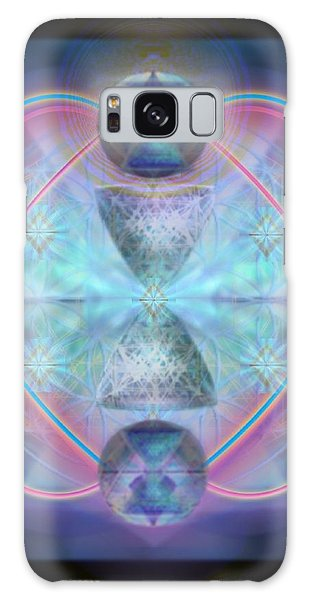 Intwined Hearts Chalice Shimmering Turquoise Vortexes Galaxy Case