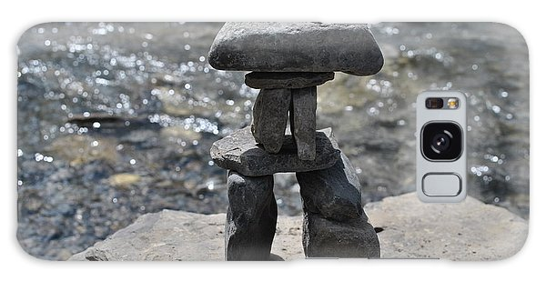 Inukshuk By The Water Galaxy Case