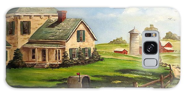 Cherokee Iowa Farm House Galaxy Case