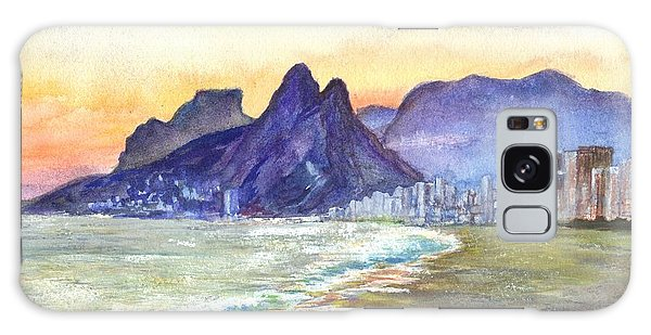 Sugarloaf Mountain And Ipanema Beach At Sunset Rio Dejaneiro  Brazil Galaxy Case