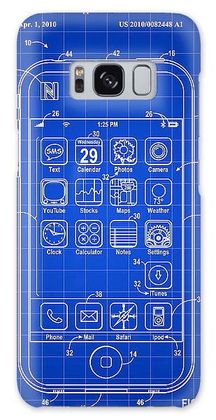 Calendar Galaxy Case - iPhone Patent - Blue by Stephen Younts