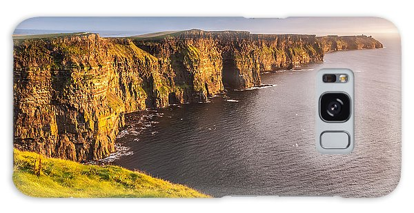 Ireland's Iconic Landmark The Cliffs Of Moher Galaxy Case