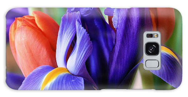 Iris And Tulips Galaxy Case by Gerry Bates