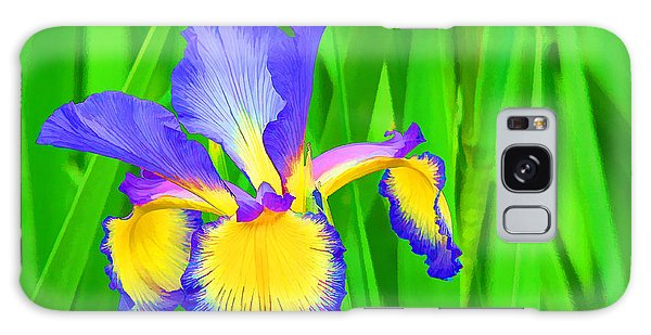 Iris Blossom Galaxy Case
