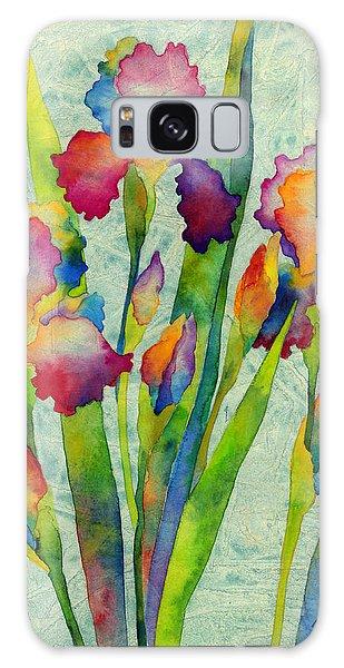 Bloom Galaxy Case - Iris Elegance On Green by Hailey E Herrera