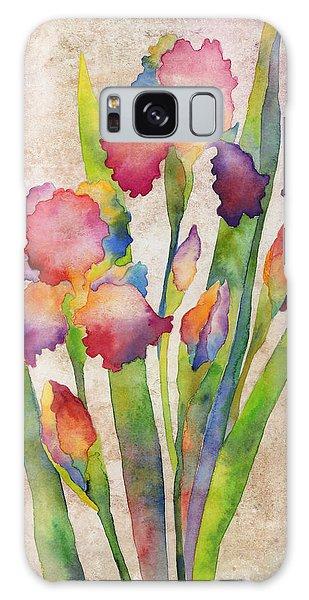 Bloom Galaxy Case - Iris Elegance On Pink by Hailey E Herrera