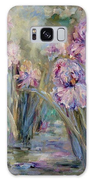 Iris Garden Galaxy Case by Mary Wolf