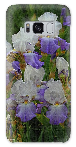 Iris Patch At The Arboretum Galaxy Case by Tom Janca