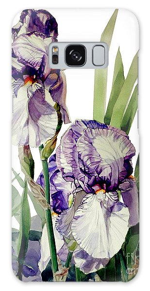Blue-violet And White Picata Iris Selena Marie Galaxy Case by Greta Corens