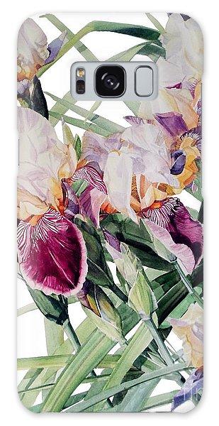 Watercolor Of Tall Bearded Irises I Call Iris Vivaldi Spring Galaxy Case