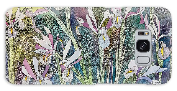 Irises And Doodles Galaxy Case